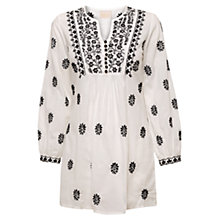 Buy East Sonya Chikkan Kurta, White Online at johnlewis.com