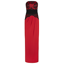 Buy Planet Bustier Band Maxi Dress, Multi/Red Online at johnlewis.com