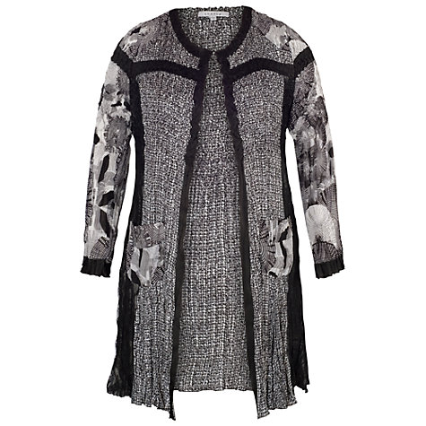 Buy Chesca Patchwork Printed Coat, Black/Ivory Online at johnlewis.com