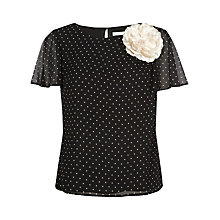 Buy Jacques Vert Spot Print Blouse, Multi/Black Online at johnlewis.com