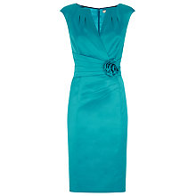 Buy Planet Satin Rosette Dress, Turquoise Online at johnlewis.com