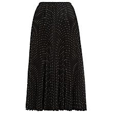 Buy Jacques Vert Spot Print Pleated Skirt, Multi/Black Online at johnlewis.com