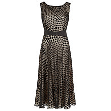 Buy Jacques Vert Devore Spot Print Dress, Black Online at johnlewis.com