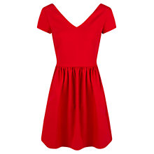 Buy Mango Pleated Skater Dress, Bright Red Online at johnlewis.com