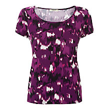 Buy Precis Petite Blurred Ikat Print Top, Multi/Dark Online at johnlewis.com