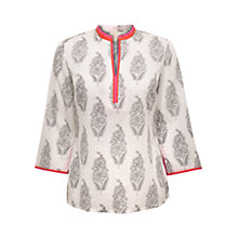 Buy East Festival Print Kurta, White Online at johnlewis.com