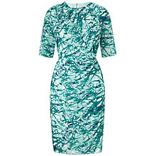 Buy Whistles Mimosa Print Bodycon Dress, Green/Multi Online at johnlewis.com