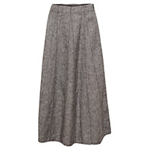 Buy East Longline Cross Dye Flare Skirt, Black Online at johnlewis.com