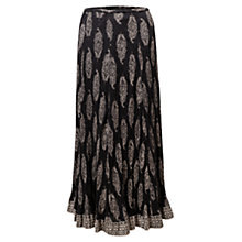 Buy East Rambagh Festival Maxi Skirt, Black Online at johnlewis.com