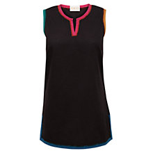 Buy East Erin Cotton Vest, Black Online at johnlewis.com