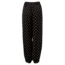 Buy East Printed Harem Trousers, Black Online at johnlewis.com