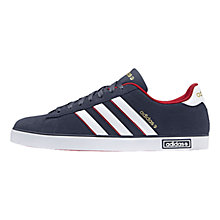 Buy Adidas Coderby Vulc Trainers, Navy/White/Red Online at johnlewis.com
