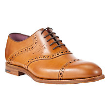 Buy Barker Pimlico Leather Brogue Oxford Shoes, Cedar Online at johnlewis.com