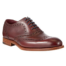 Buy Barker Holborn Leather Brogue Oxford Shoes, Cherry Calf Online at johnlewis.com