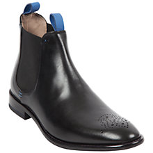 Buy Oliver Sweeney Silsden Leather Brogue Chelsea Boots, Black Online at johnlewis.com