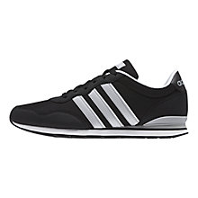Buy Adidas Runeo V Jog Clip Trainers, Black/Grey/White Online at johnlewis.com
