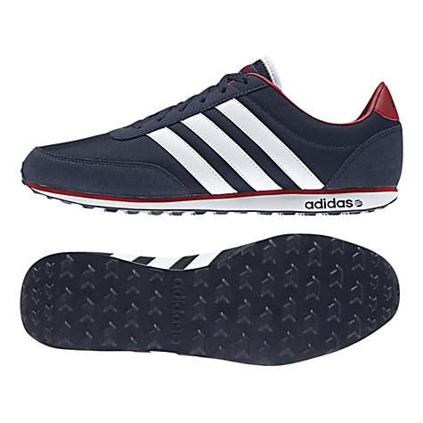 Buy Adidas V Racer Shoes, Navy/White/Red Online at johnlewis.com