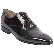 Buy Oliver Sweeney Belair Leather Brogue Oxford Shoes, Black/Burgundy Online at johnlewis.com
