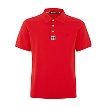 Buy Aquascutum Club Check Placket Polo Shirt Online at johnlewis.com