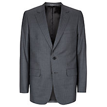Buy Aquascutum Pinstripe Suit Jacket, Grey Online at johnlewis.com