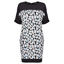 Buy Warehouse Textured Bird T-Shirt Dress, Multi Online at johnlewis.com