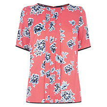 Buy Warehouse Stencil Floral Top, Multi Online at johnlewis.com