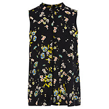 Buy Warehouse High Neck Floral Top, Multi Online at johnlewis.com