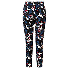 Buy Jigsaw Tulip Print Trousers, Navy Online at johnlewis.com