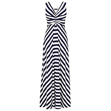 Buy Phase Eight Selena Stripe Maxi Dress, Navy/White Online at johnlewis.com