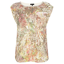 Buy Warehouse Sequin Floral Tee, Multi Online at johnlewis.com