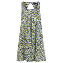 Buy Warehouse A Line Swing Dress, Green Print Online at johnlewis.com
