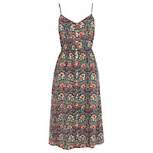 Buy Warehouse Bright Floral Midi Dress, Multi Online at johnlewis.com