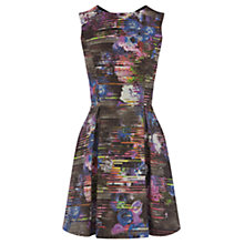 Buy Warehouse Abstract Floral Dress, Multi Online at johnlewis.com