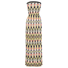 Buy Warehouse Blurred Ikat Bandeau Dress, Multi Online at johnlewis.com