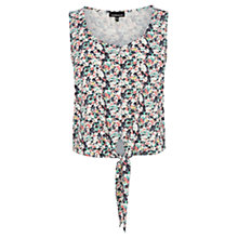 Buy Warehouse Ditsy Print Tie Front Vest, Multi Online at johnlewis.com