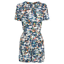 Buy Warehouse Scratchy Check Playsuit, Multi Online at johnlewis.com