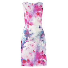 Buy Jigsaw Watercolour Cotton Sateen Dress, Pink Online at johnlewis.com