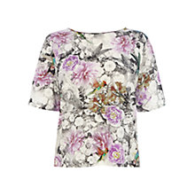 Buy Warehouse Hummingbird Print Top, Multi Online at johnlewis.com