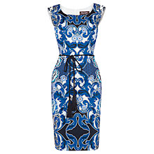 Buy Phase Eight Orient Print Dress, White/Marine Online at johnlewis.com
