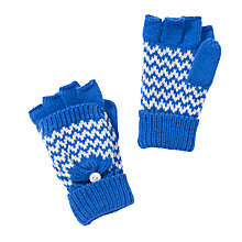 Buy John Lewis Boy Chevron Stripe Gloves, Blue Online at johnlewis.com