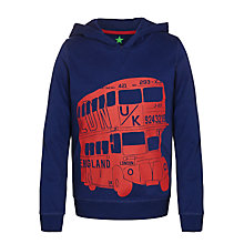 Buy John Lewis Boy London Bus Hoody, Navy/Red Online at johnlewis.com