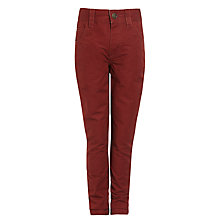 Buy John Lewis Boy Bedford Corduroy Trousers, Red Online at johnlewis.com