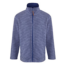 Buy John Lewis Boy Melange Zip Through Fleece, Blue Online at johnlewis.com