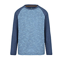 Buy John Lewis Boy Raglan Long Sleeve T-Shirt, Navy/Blue Online at johnlewis.com