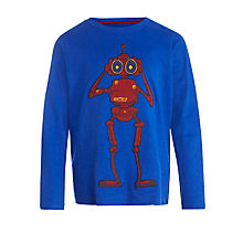 Buy John Lewis Boy Alien Long-Sleeve T-Shirt, Blue Online at johnlewis.com