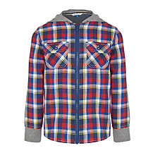 Buy John Lewis Boy Hooded Check Shirt, Multi Online at johnlewis.com