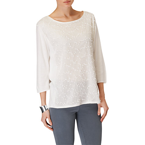 Buy Phase Eight Penelope Panel Jumper, White Online at johnlewis.com