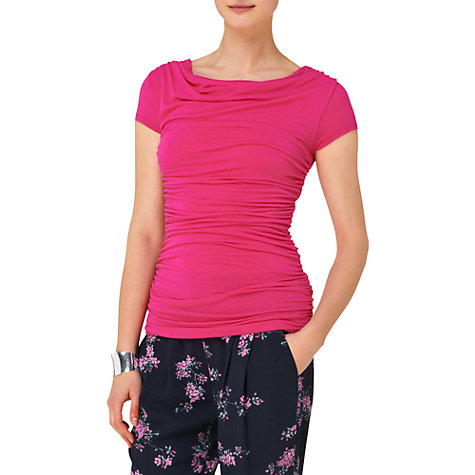 Buy Phase Eight Tallie Cap Sleeved Top, Camelia Online at johnlewis.com