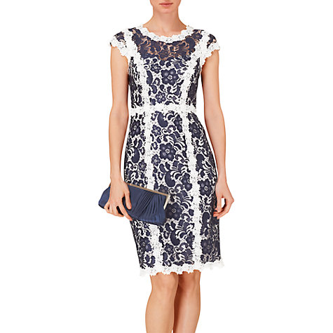 Buy Phase Eight Frieda Lace Dress, Navy/Ivory Online at johnlewis.com