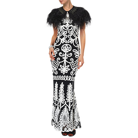 Buy Phase Eight Feathered Cape, Black Online at johnlewis.com